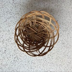 Mini Wicker Wall Mural Basket